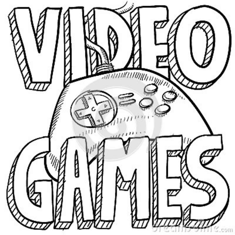 "I image searched ""VIDEO GAMES"" in all caps and got this.  It works."